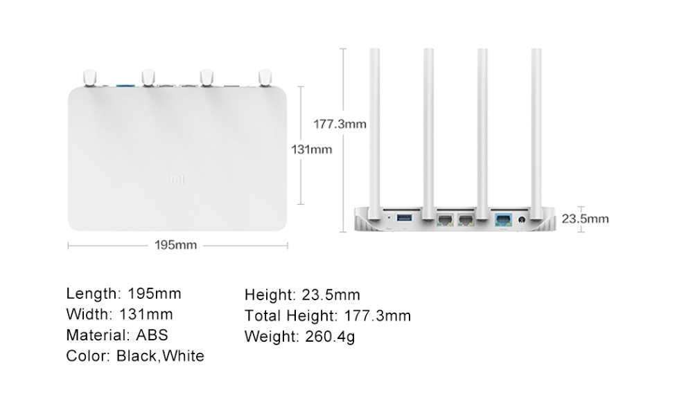 Original Xiaomi WIFI Router 3G With 256MB Memory 128MB Large Flash Dual Band 2.4G5G Gigabit USB 3.0 Mi Wireless Wifi Roteador (6)