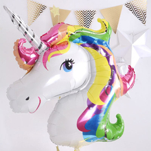 1set Birthday Party Decorations kids Foil Balloons 39inch Latex Unicorn Balloon Party Supplies Wedding/Halloween/Christmas(China)