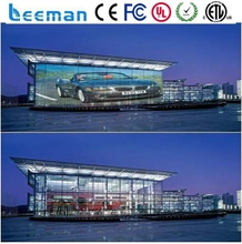 Leeman transparent LED media facade strip display / glass windows led display screen