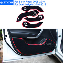 Car Styling Protector Side Edg Pad Protected Anti-kick Door Mats Cover For Buick Regal 2009-2016 Opel Insignia 2009-2016(China)