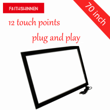 6, 10, 12 points 70 inch overlay touch screen kit infrared multi touch panel touchscreen kit overlay(China)
