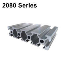 Industrial European Standard 3D Printer Frame Silver Oxide Anodized V Slot Linear Rail Aluminum Extrusion Profile 2080  Series