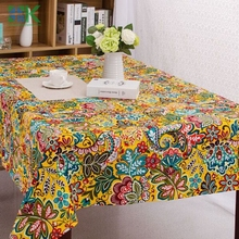 2016 Summer new Europe Fancy Series Cute cartoon Cotton+Linen Table Cloth / for home /Dining Table Cover Towel Accept Customized
