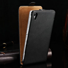 Luxury Genuine Leather Flip Case for SONY Xperia Z3 D6643 D6653 D6603 Cover Back Cases Black Brown White