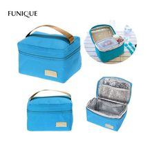 FUNIQUE 2018 Hot Sales Waterproof Lunch Bag Lunchbox Picnic Bag Portable Thermal Cooler Bento Pouch Travel Portable Storage Bags(China)