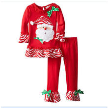Children's Wear New Set of New Christmas Girls Santa Claus Suit Christmas Outfit Kids Clothes(China)