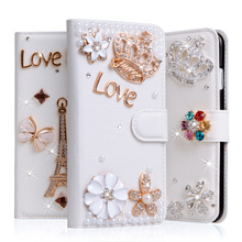 "Diamond Cover For Xiaomi Redmi Note 4x Case Rhinestone Coque For Redmi Note 4x 5.5"" Case Wallet Stand Flip PU Leather Phone Bag"