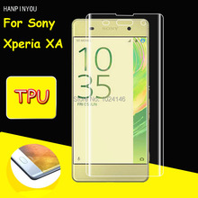 Full Coverage Clear Soft TPU Film Screen Protector For Sony Xperia XA / Dual 5.0 Inch, Cover Curved Parts (Not Tempered Glass)
