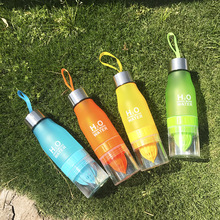 New Xmas Gift 650ml Water Bottle plastic Fruit infusion bottle Infuser Drink Outdoor Sports Juice lemon Portable Water kettle