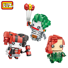 LOZ Joker Harley Quinn Poison Ivy DC Model Mini Building Blocks Brick Head Figure Toy For Ages 6+ Offical Authorized(China)