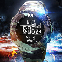 2017 Military Sport Watch Men Top Brand Luxury Electronic Digital LED Wrist Watch Male Clock For Men Hodinky Relogio Masculino(China)