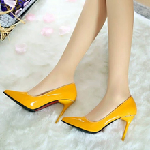 2016 Sexy club 12cm high heels pointed toe shoes woman wedding leisure shoes fashion thin heels women pumps club brand sandal