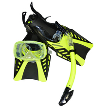 snorkeling equipment double lens Diving Mask dry Snorkel adjustable strap Flippers MSF2553227(China)