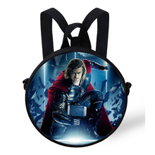 9-Inch Cute Baby Round Backpack Bag For Kids The Avengers Superhero Captain America Thor Backpack For Children Kindergarden Bags
