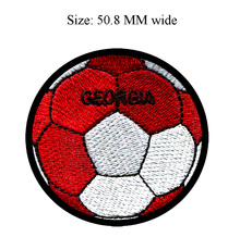 50.8MM wide Georgia flag patch of soccer ball football patch/team work/game patch(China)