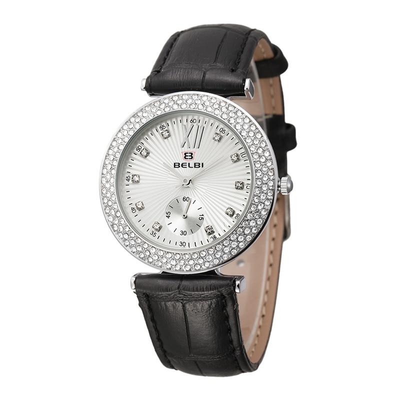 Luxury Brand  Womens Watch Full Leather Quartz Wristwatch Relogio Feminino Fashion Round Three Needles Watch BELBI Hot Selling<br><br>Aliexpress
