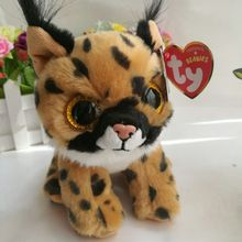 LARRY - brown lynx 15cm 6inch Ty Beanies Plush Toy Stuffed Animal Soft Kids Toy Christmas Gift Hot Sale(China)