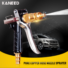 Pure Copper High Pressure Washer Gun Brass Metal Hose Nozzle Water Gun Sprayer High Pressure Garden Auto Car Washing