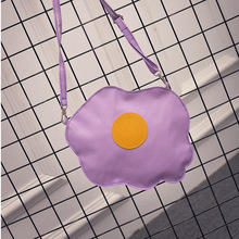 2017 PU Leather Fried Egg Cute Bag Small Body Bag Personality Handbag Women New Fashion High Street Bags Mobile Phone Bags