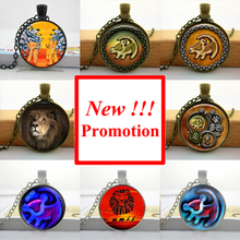 2015 New Fashion Art Glass Pendant Lion King necklace lion king pendent Simba jewelry Glass Cabochon Necklace