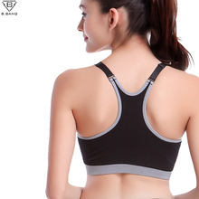 B.BANG Yoga Bra Shirts Sport Tops Yoga Vet Seamless & Padded  for Fitness Running Jogging Women Girl Seamless Running Vest