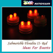 SALE !!! LED Light Submersible Floralyte Super Bright Orange color Wedding Floral Decorations Candle Tea light(China)