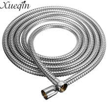 Xueqin Stainless Steel 3Meter Shower Hose Soft Shower Pipe Flexible Bathroom water pipe Silver color common Plumbing Hoses(China)