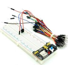 MB102 830 Point Solderless PCB Breadboard with 65pcs Jump Cable Wires and Power starter kit