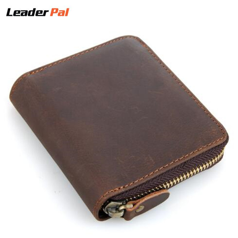 New 2017 Vintage Crazy Horse Handmade Leather Men Wallets Multifunctional Cowhide Coin Purse Genuine Leather Wallet For Men 8083<br><br>Aliexpress