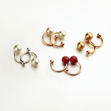 Korean Popular Women Elegant Pearl Ear Wrap Cartilage Cuff U Clip Earring No Piercing 3 colors