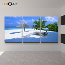 3 panel Maldives Art Photos canvas painting living room wall poster in modular print cuadros decoracion pictures(no frame)
