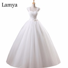 Lamya Vestidos De Novia Lace Up Back Wedding Dress Sexy Sweetheart Rose Flowers Strap Elegant Princess Tulle Bride Ball Gown