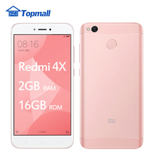 "Original Xiaomi Redmi phone 4X 2GB RAM 16GB ROM Snapdragon 435 Fingerprint ID 4100mAh Battery  5.0"" Metal Body google store"