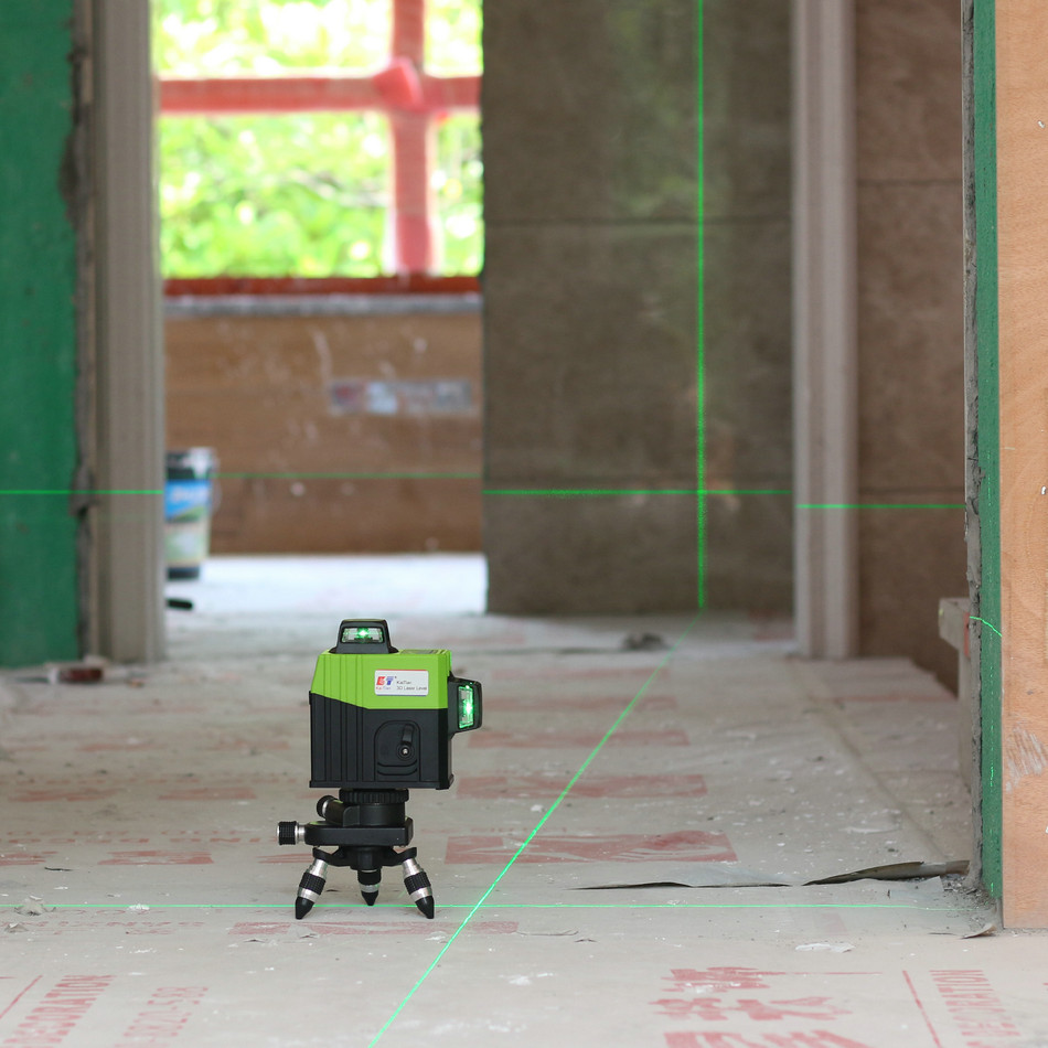 Kaitian 3D Laser Level Green 360 Nivel Laser 12 Lines Lazer Level 3D Tripod 58 Construction with Receiver Bracket Building Tool 1