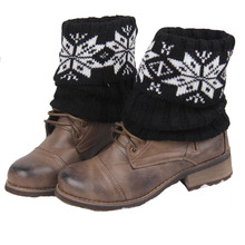 120pairs/lot new fashon short knit snowflake leg warmer/geometric boot cuff