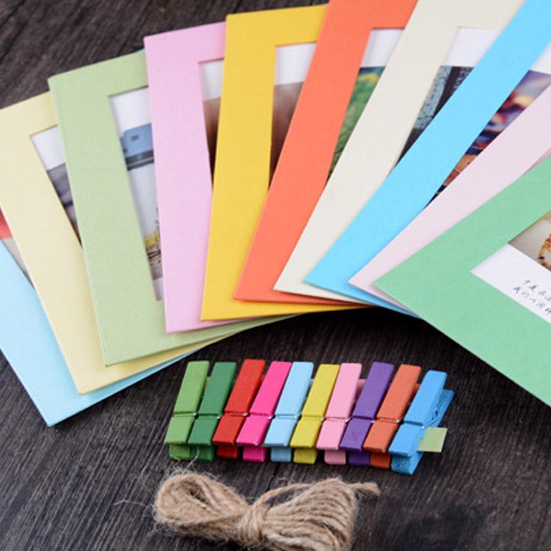 Großhandel 10 Blätter Album Rahmen Kombination Wand Papier ...