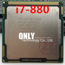Free shipping i7 880 3.06GHz 8M SLBPS Quad Core Eight threads desktop processors i7-880 CPU 1156pin scrattered pieces(China)