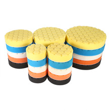 5pcs/Set 3/4/5/6/7 Inch Buffing Sponge Polishing Pad Hand Tool Kit For Car Polisher Wax Different Sizes
