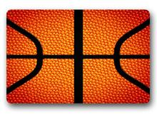 Custom Basketball Doormat Bedroom Cushion Red Basketball Mat Bathroom Rugs Christmas Gift Home Decoration  #D-188#