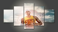 Canvas painting new 5 Piece Canvas Basketball Lebron james cleveland cavaliers Decoration for home For Living Room Oil Art\C-920(China)