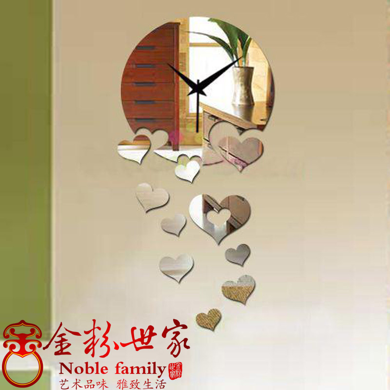 Diy mirror watches and clocks digital wall clock mirror wall stickers novelty wall decoration(China (Mainland))
