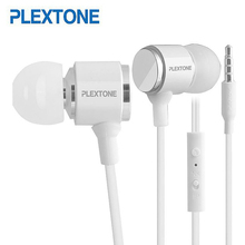 Plextone X34M 3.5mm Jack Metal Mega Bass Music Earphones For iPhone 5 6 Samsung LG Mobile Phone MP3 MP4 Player Universal Earbuds