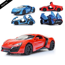 Super Car Metal Car Toy 1:32 Scale Pull Back Simulation Alloy Cars Acousto-optic Auto Model Collection Car Toy For Children Gift(China)