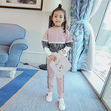 Girl Autumn Clothing Suit New Pattern Athletic Wear Girl Clothing Children Autumn Two Pieces Kids Clothing Sets(China)