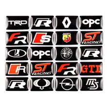 Car-Styling Sport Wheel Badge Car Emblem Sticker Decals Logo Case For Toyota Avensis Auris Hilux Corolla Camry RAV4 Car Stickers
