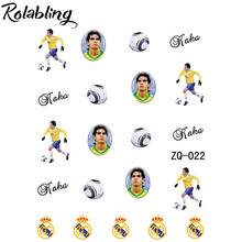 Rolabling Brazil Flag World Cup with Roka water nail sticker Accessories Football Series Nail Tattoo,22 Different design