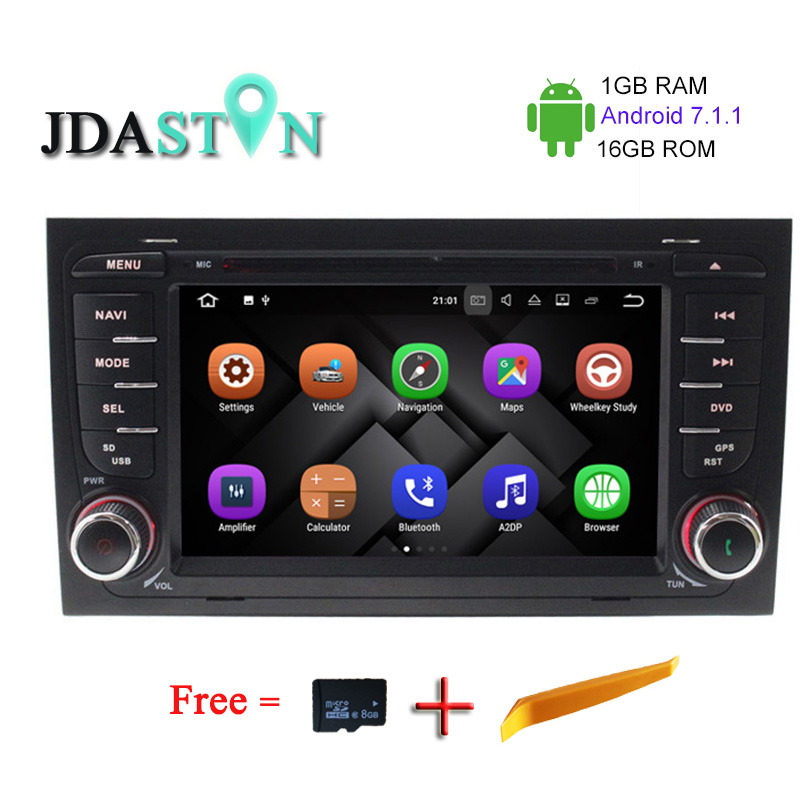 Android 7.1.1 2Din Car DVD Multimedia Player For Audi A4 S4 2002-2008 RAM 1GB WIFI GPS Navigation Auto Radio FM CANBUS Map SWC(China (Mainland))