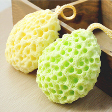 Bath Ball Mesh Brushes Sponges Bath Accessories Body Wisp Natural Sponge Dry Brush Exfoliation Cleaning Equipment A4(China)
