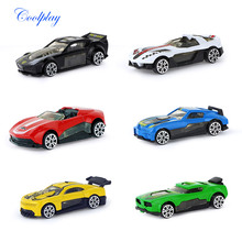 6 Pcs/set Racing Alloy car model Mini slither car Multiple style combinations Various models of car models Educational kids toy(China)