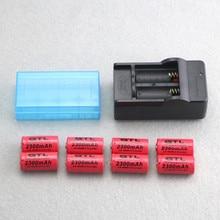 LED Flashlight Expert GTL 2300mAh LS 16340 3.7V Li-ion Batteries + 16340 Battery EU Charger + 18650 16340 Battery Storage Box